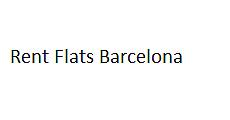 Rent flats Barcelona